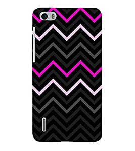 Pink Fashion Chevron 3D Hard Polycarbonate Designer Back Case Cover for Huawei Honor 6