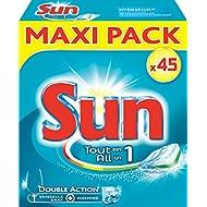 Sun tablettes lave-vaisselle tout en 1 45 pastilles