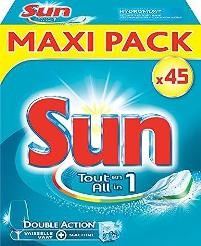 Sun Tablettes Lave-Vaisselle Tout en 1 x45 Pastilles