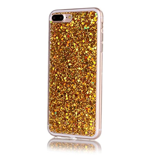 Ouneed® Hülle für iphone 7Plus 5.5 Zoll , Hot Silicone+PC High-quality Flash Soft Case Cover Skin For iPhone 7Plus 5.5 Zoll (5.5 Zoll, Silber) Gold