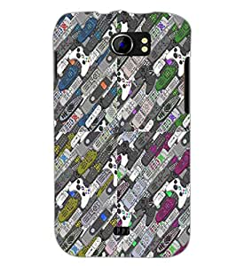 PrintDhaba Pattern D-4530 Back Case Cover for MICROMAX A110Q CANVAS 2 PLUS (Multi-Coloured)