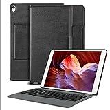 OMOTON iPad Pro 10.5 Funda con Teclado Bluetooth Español, Compacta Funda de Cuero, Español Teclado con Funda y Soporte para iPad Pro 10.5