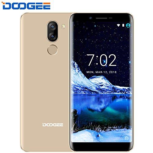 Smartphone in Offerta, DOOGEE X60L Android 7.0 Telefonia Mobile (18: 9 Schermo intero) - 5.5 Inches HD Screen 4G Telefoni Cellulari con 2GB RAM+16GB ROM - 3300mAh Dual 13.0MP + 8.0 MP Fotocamera Digitale - Oro