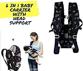 FreshDcart 6 in 1 Baby Carrier Bag Belt Shoulder with Hip Seat and Head Support for 4-12 Months Baby Lowest Price Offer