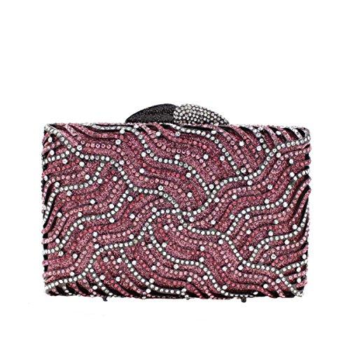 Frauen-hochwertige Handtasche Kristall Abendtasche Luxus Bankett Tasche B
