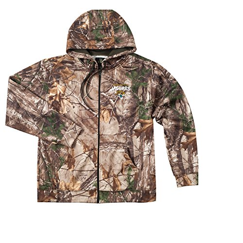 ac3a8f22 Dunbrooke Apparel NFL Jacksonville Jaguars Camo Trophy Xtra Tech Fleece  Full Zip hoodie, X-