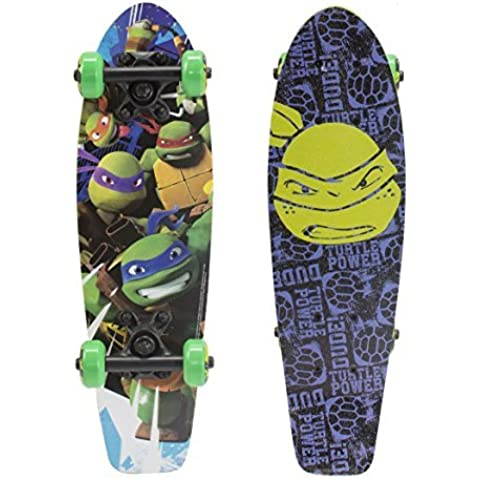 PlayWheels Teenage Mutant Ninja Turtles 21 Wood Cruiser Skateboard - Turtle Power Graphic by PlayWheels