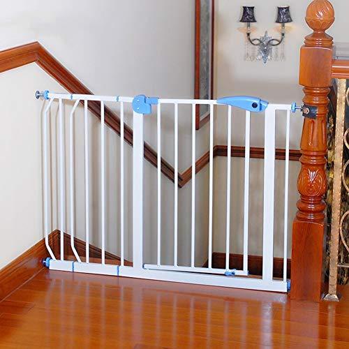 Baby Gates Extra Breite Haustür für Treppen Flur Türöffnung Druckhalterung Hoch Passt zwischen 75 cm und 194 cm Breite Treppe (Farbe : Weiß, größe : 95-104cm) (Flur Baby-gate)