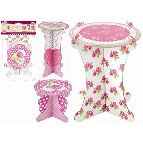 Queen of cakes, 3 Pack Single Cupcake Muffin Decrotive Cardboard Stands