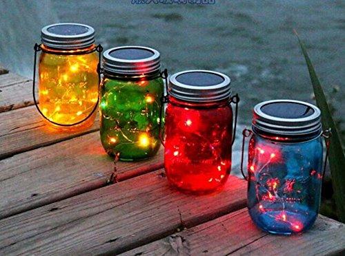 Nautische Outdoor-leuchten (Farbleuchte Einmachglas mit LED Solar Outdoor-Entfernung Flaschendekoration wünschen kann Flasche Vase Flasche Fermenter oder Storage Container Garten-Dekor)