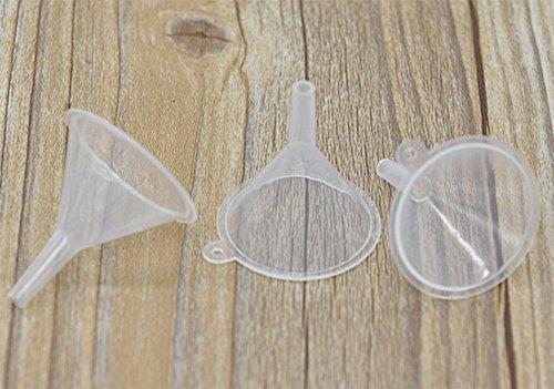 Leisial 10 Stück Mini Kunststoff Trichter Transparent Milchig - 4