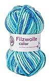 Grundl Filzwolle Color, 50 g Pool 38