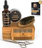 Kit de cuidado de barba Naturenics para hombres con brocha para barba,...