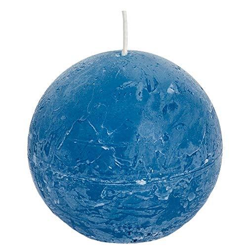 Spaas - Velas esféricas (6 Unidades, Cera de parafina, 100 mm de Profundidad), Color Turquesa