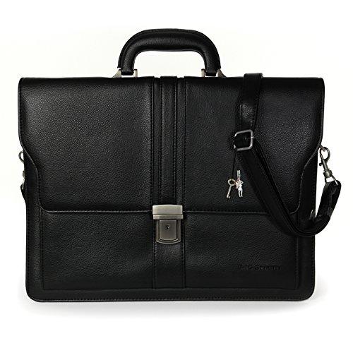 Aktentasche Kunstleder schwarz Bag Street Businesstasche