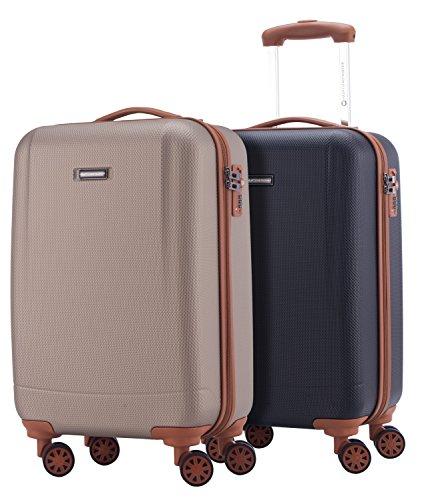 HAUPTSTADTKOFFER - Wannsee - 2 x Handgepäck Koffer-Set Trolley-Set Rollkoffer sehr leichter Reisekoffer, ABS Hartschalenkoffer 4 Rollen, T...