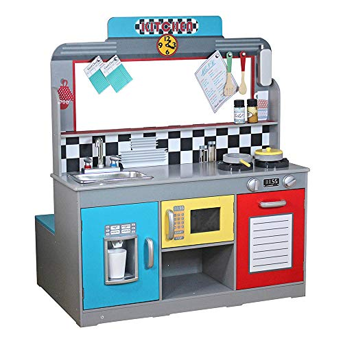 Play & Learn - Cocinita madera Bar Retro ColorBaby