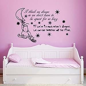 wandtattoo winnie pooh zitat spr che wandaufkleber f r baby spruch vinyl aufkleber wanddeko. Black Bedroom Furniture Sets. Home Design Ideas