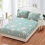 huyiming Verwendet für Bettlaken Einzelstück 100 gedruckte rutschfeste Matratzenbezug Student Schlafsaal Tagesdecke 135X200cm