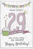 Lustige Geburtstagskarte zum 30. Geburtstag - Frau - Schon wieder 29! Alle werden älter nur du nicht! DEP002