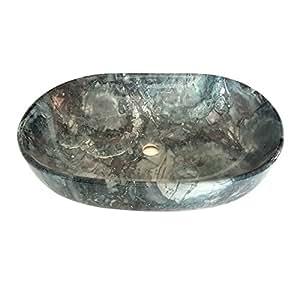 Brizzio 508 Green Marble Color Ceramic Wash Basin