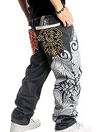 9dc1406447610 Pantalones de Baile Callejero de Moda Estilo Hip Hop de los Hombres  Pantalones de Rap Pantalones