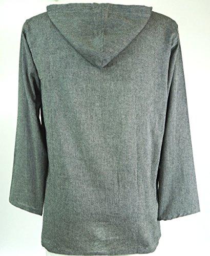 Hippiehemd, Hemd / Männerhemden Grau