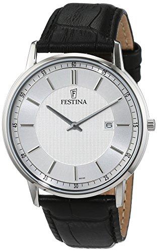 Festina Herren-Armbanduhr Analog Quarz Leder F6831/2