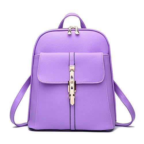 Mefly Tutti-Match Inverno Scuola Studente Sacco Bag Rosa Violet