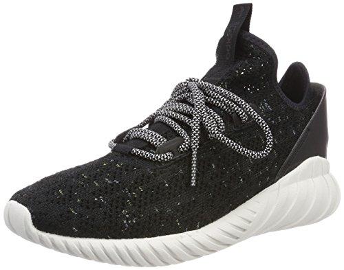 adidas Herren Tubular Doom Sock Primeknit Fitnessschuhe, Schwarz (Negbás/Ftwbla/Seamhe 000), 44 EU
