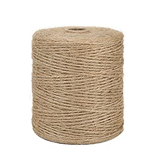 Tenn Well 984 Feet 3Ply Jute Twine, Natural Thick Garden Twine for Floristry, Gifts, DIY Arts&Crafts (Brown)