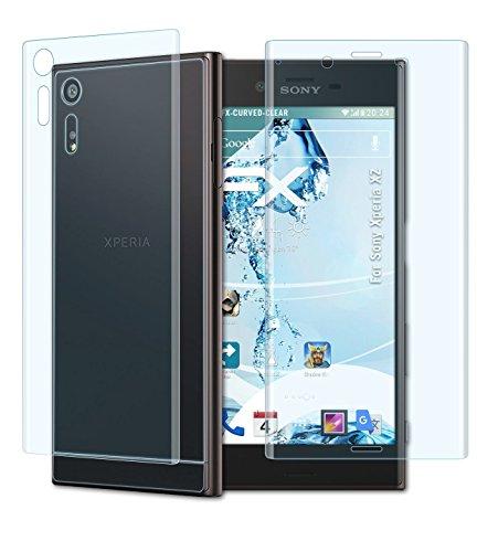 atFoliX Schutzfolie Sony Xperia XZ Folie - 3er Set - FX-Curved-Clear speziell für gewölbte Displays +++ vollflächiger Schutz bis zum Rand +++