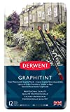 Derwent Graphitint Crayons de couleur Boîte métal de 12