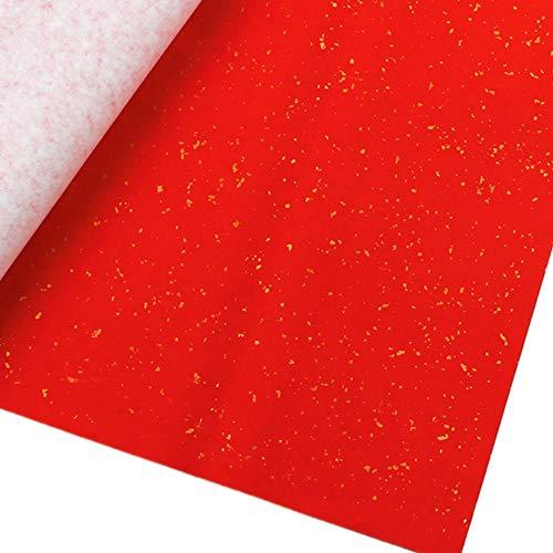 er, chinesisches Kalligraphie-Papier, für Hochzeit, Party, DIY Couplet, chinesisches Neujahr, Kalligraphie, Reispapier, Rot Golden Point ()