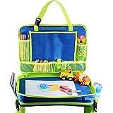 Bandeja de viaje para asiento de coche Gelible para niños con bolsillos de malla extraíbles para cochecito de avión, actividad, aprendizaje y viaje