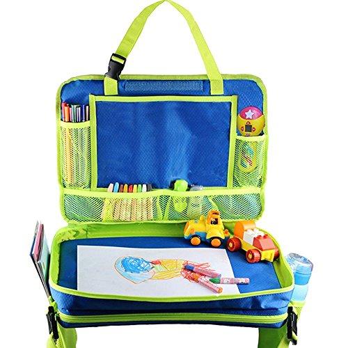 z Reise Tablett Kleinkind Snack Play Tabletts mit abnehmbarem Mesh Taschen Lap Organizer für Flugzeug Buggy, Aktivität, Lernen, und Reise (Rollstuhl-zubehör Für Kinder)