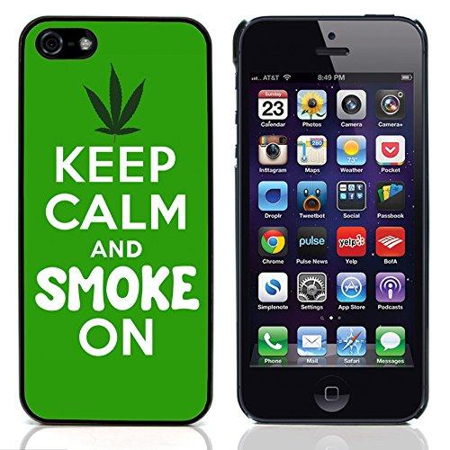 Graphic4You Marihuana Cannabis Hanf Blatt Raucher Design Harte Hülle Case Tasche Schutzhülle für Apple iPhone 5 und 5S Design #3