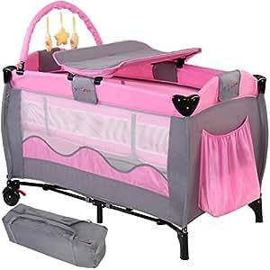 infantastic lit de voyage b b lit parapluie pliant avec arche de jeu et plan langer. Black Bedroom Furniture Sets. Home Design Ideas