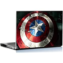 Pixel Artz Laptop Skin - Shield Of Captain America - HD Quality-15.6 Inches-Dell-Lenovo-Acer-HP-Sony