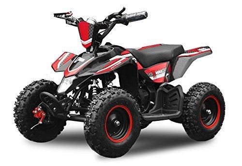 "Eco Quad 800W Madox Deluxe 6"" 36V Kinderquad ATV Pocket Bike Mini (Rot)"