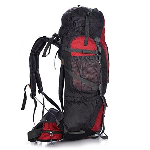 groß 80+5L Wander Zelten Outdoor Sport Intern Rahmen Rucksack Wasserbeständigkeit Tagesrucksack Reisen Racksuck DeepBlue