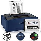 2 Baterías + Cargador doble (USB) EN-EL19 para Nikon Coolpix S32, S33, S2900, S3700, S6500, S7000... / A100, A300, W100 + v. lista!