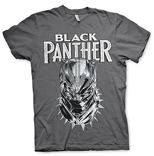 Black Panther Officially Licensed Protector Men's T-Shirt (Dark-Grey)