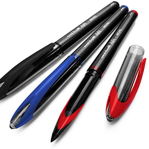 3 x UNI-BALL AIR UBA 188M 0.5mm penna a sfera 3 colori con Mix & Match opzione DISPONIBILI - Rosso