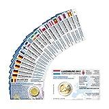 Set - alle Münzkarten (ohne Münze) für 2-Euro Gemeinschaftsmünzen 10 Jahre Euro 2012