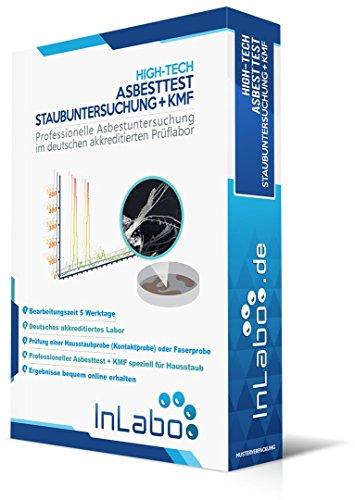 Original InLabo Asbesttest + KMF Test einer Hausstaubprobe - HIGH-TECH ANALYSE für Hausstaub inklusive Test für künstliche Mineralfasern