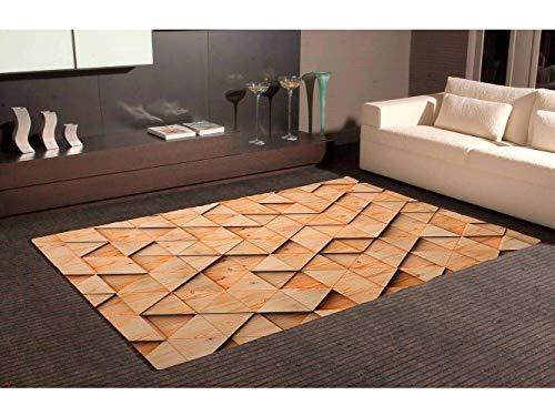 Oedim Tapis Carpette En Pvc Motifs Imitation Parquet Triangle