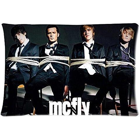 Boy carcasa manta diseño de Mcfly autógrafos de los miembros de funda de almohada Best año nuevo regalo 20 x 76,2 cm 2 laterales reforzados para habitación
