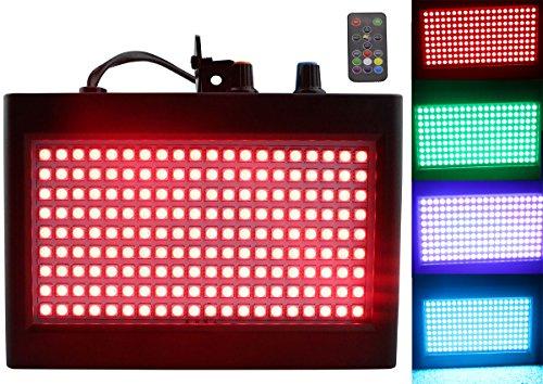180 LED luces DJ, Latta Alvor Luz estroboscópica del escenario intermitente para fiestas Iluminación del escenario DJ DJ con control remoto activado por sonido automático (multicolor)