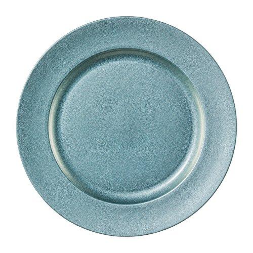 "Melamin TELLER rund ""SHINING"". Dekoteller metallic 25cm, blau EISBLAU. Art.: 6017654-95"